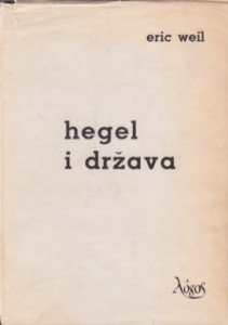 HEGEL I DRŽAVA - ERIC WEIL