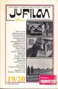 JUFILM DANAS časopis za Jugoslovenski film, godina 4, broj 2-3, leto - jesen 1991