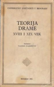 TEORIJA DRAME XVIII i XIX VEK - VLADIMIR STAMENKOVIĆ