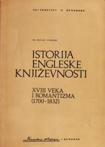 ISTORIJA ENGLESKE KNJIŽEVNOSTI XVIII VEKA i ROMANTIZMA (1700-1832) - DUŠAN PUHALO