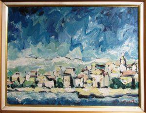 Slika: Miroslav Kolundžija, ulje na platnu, dimenzije 37 x 48