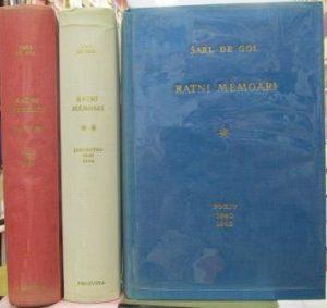 RATNI MEMOARI - ŠARL DE GOL u 3 knjige